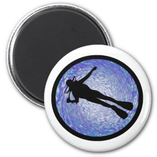 SCUBA ALL TIMES 2 INCH ROUND MAGNET