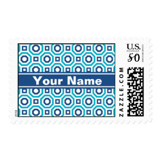 Scuba and Classic Blues Nested Octagon Postage
