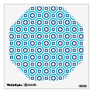 Scuba and Classic Blues Nested Octagon Wall Decal