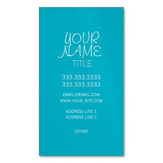 Scuba Blue Freehand Simple Magnetic Business Card