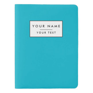 Scuba Blue High End Solid Color Extra Large Moleskine Notebook