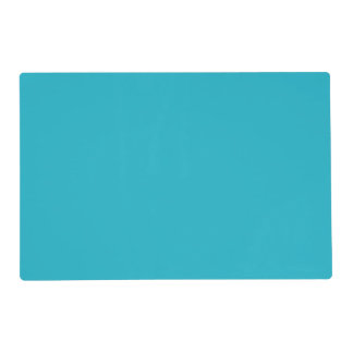 Scuba Blue Teal Trend Color Background Placemat