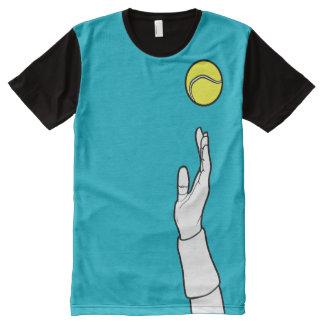 Scuba Blue - Tennis Serve All-Over-Print T-Shirt