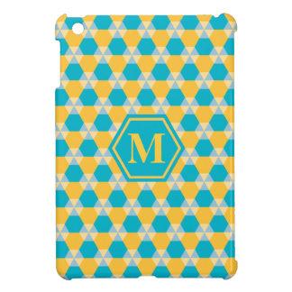 Scuba Blue/Yellow Triangle-Hex iPad Mini-Case iPad Mini Cases