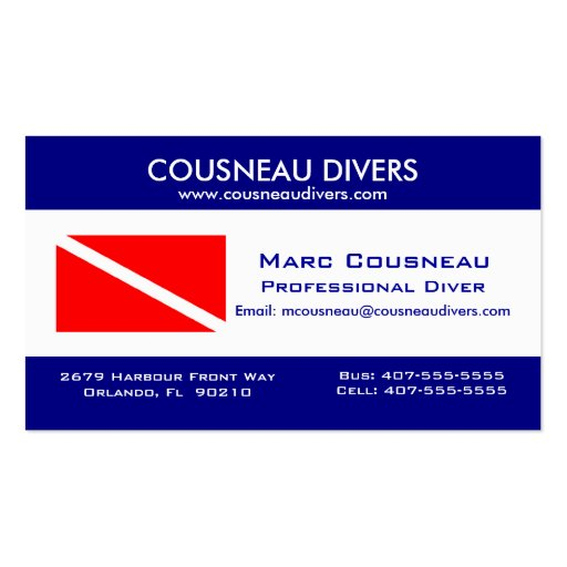Scuba Business - Personal Card 1 Business Card