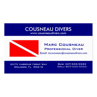 Scuba Business - Personal Card 1 Double-Sided Standard Business Cards (Pack Of 100)
