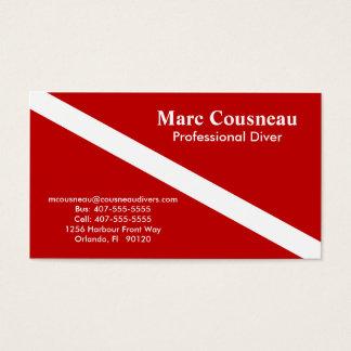 Scuba Business - Personal Card - Dark Red
