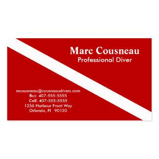 Scuba Business - Personal Card - Dark Red Business Card