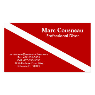 Scuba Business - Personal Card - Dark Red Double-Sided Standard Business Cards (Pack Of 100)