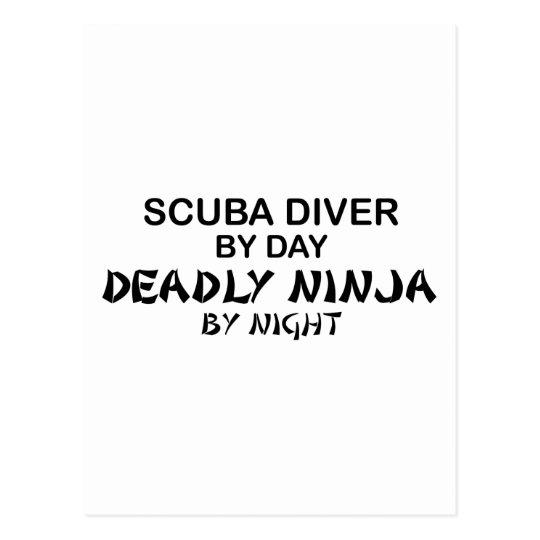 Scuba Deadly Ninja by Night Postcard