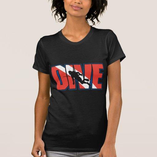 SCUBA Dive Black T-Shirt Tee Shirts
