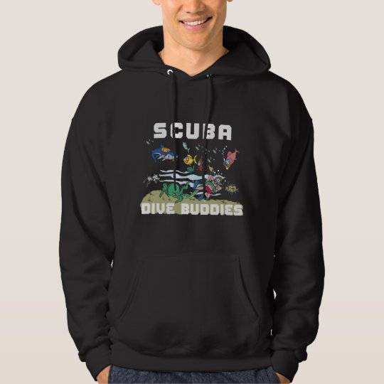 SCUBA Dive Buddy Dark Hooded Sweatshirt