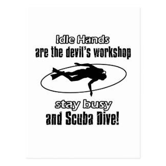 Scuba Dive designs Postcard