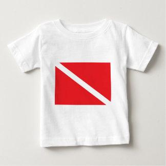 SCUBA Dive Flag Baby Baby T-Shirt