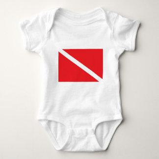 SCUBA Dive Flag Baby Infant Creeper