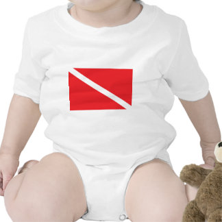 SCUBA Dive Flag Baby Rompers