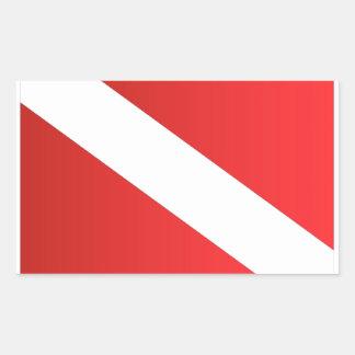 scuba dive flag [Converted].jpg Rectangle Stickers
