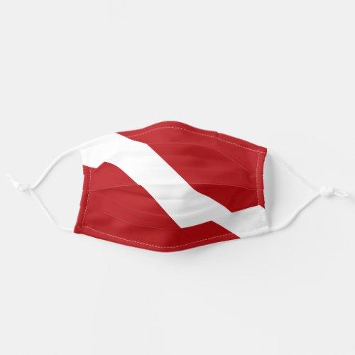 Scuba Dive Flag Face Mask