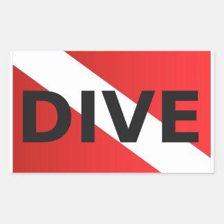 scuba dive flag.jpg rectangular sticker