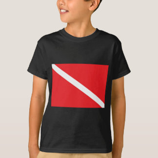 SCUBA Dive Flag Kids Dark T-Shirt