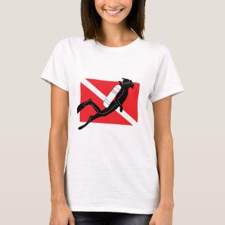 SCUBA Dive Flag With Male SCUBA Diver T-Shirt