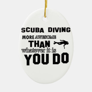 scuba dive  more awesome ceramic ornament