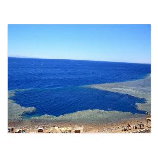 Scuba Dive Spot Blue Hole Postcard
