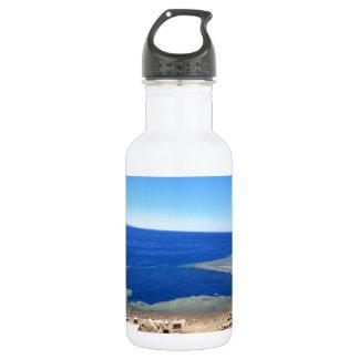 Scuba Dive Spot Blue Hole Water Bottle