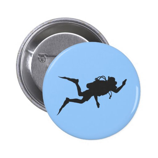 Scuba Diver 2 Inch Round Button