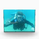 """Scuba Diver Acrylic Award<br><div class=""""desc"""">Scuba diver giving the OK sign.</div>"""