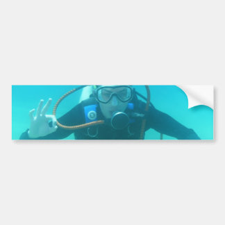 Scuba Diver Bumper Sticker Car Bumper Sticker