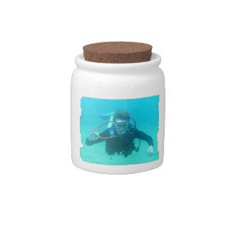 Scuba Diver Candy Jar