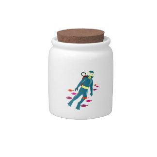 Scuba Diver Candy Jars