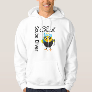 Scuba Diver Chick Hooded Pullovers