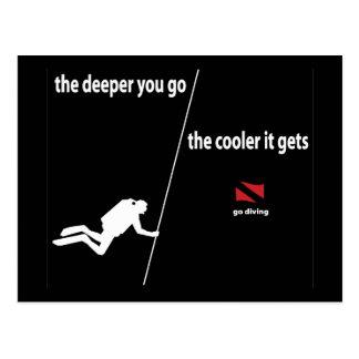Scuba Diver Deeper Postcard