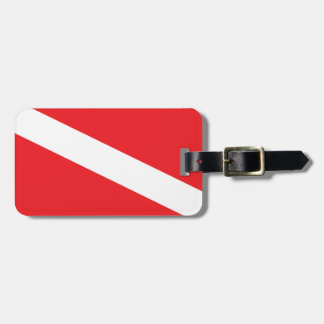Scuba Diver Dive Flag Luggage Tag