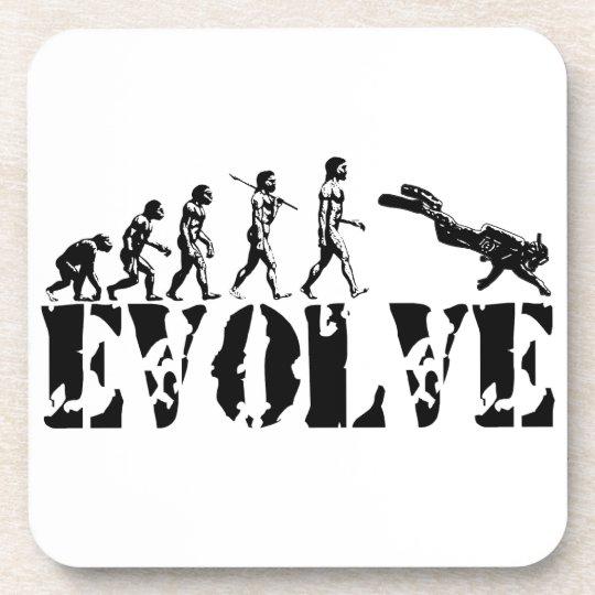 Scuba Diver Diving Evolution Sports Art Drink Coaster
