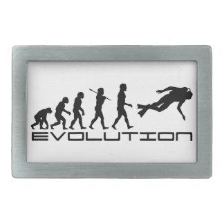 Scuba Diver Diving Water Sport Evolution Art Belt Buckles
