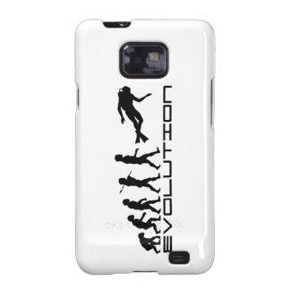 Scuba Diver Diving Water Sport Evolution Art Samsung Galaxy S2 Cover