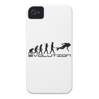 Scuba Diver Diving Water Sport Evolution Art iPhone 4 Case-Mate Cases