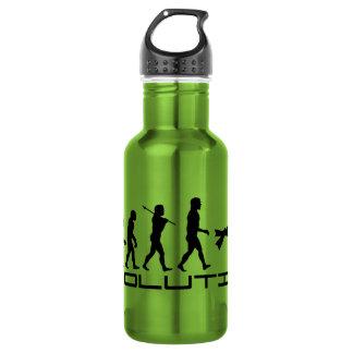 Scuba Diver Diving Water Sport Evolution Art Stainless Steel Water Bottle