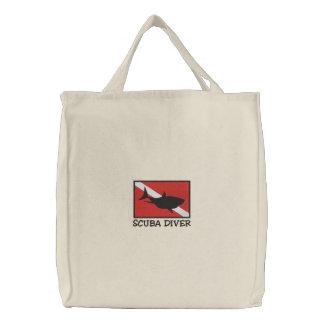 SCUBA Diver Down Flag Embroidered Bag