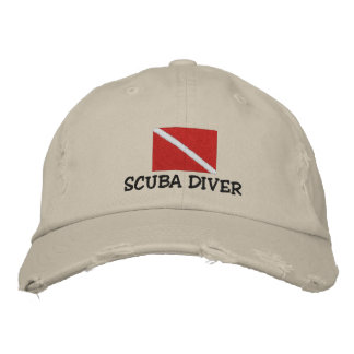 SCUBA Diver Embroidered Cap Embroidered Baseball Caps
