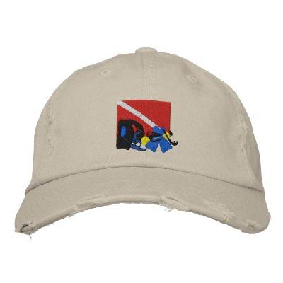 SCUBA Diver Embroidered Cap Embroidered Baseball Cap