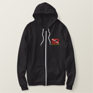 SCUBA Diver Embroidered Embroidered Hoodie