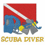 SCUBA Diver Embroidered Track Jacket