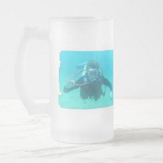 Scuba Diver Frosted Beer Mug