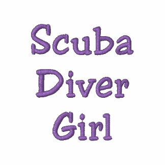 Scuba Diver Girl Embroidered Hoodie