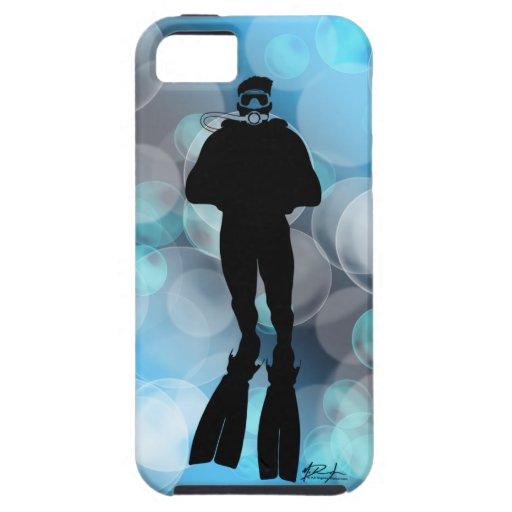 Scuba Diver in Bubbles iPhone 5 Case