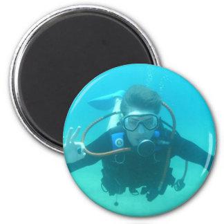 Scuba Diver Magnet Refrigerator Magnets